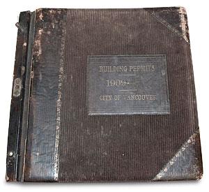 1909 Vancouver Building Permit Book