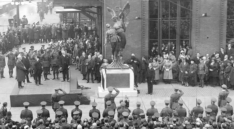 6. Historic Monuments – Angel of Victory in front of Waterfront Station