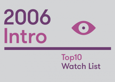 Introduction – 2006 Top10 Watch List
