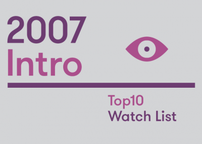 Introduction – 2007 Top10 Watch List