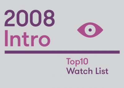 Introduction – 2008 Top10 Watch List