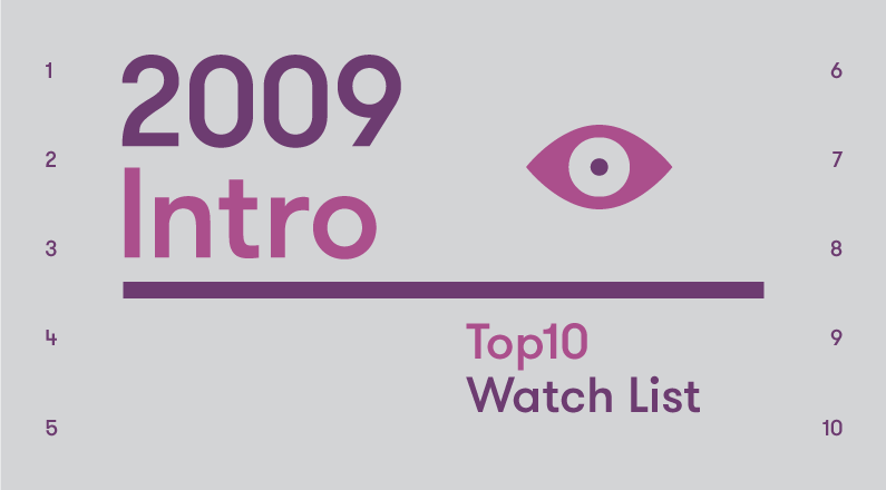 Introduction – 2009 Top10 Watch List