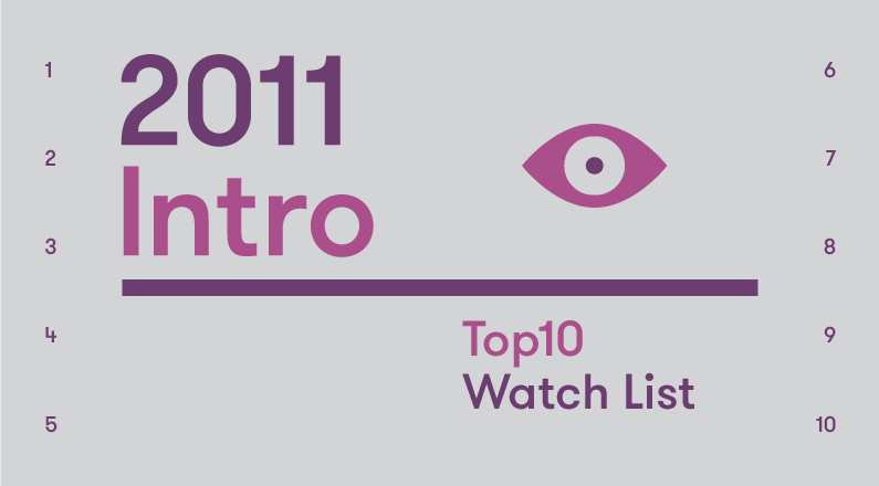 Introduction – 2011 Top10 Watch List