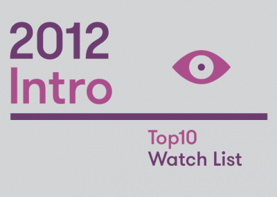Introduction – 2012 Top10 Watch List