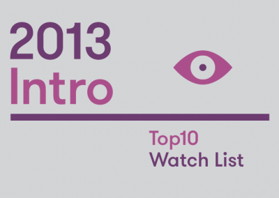 Introduction – 2013 Top10 Watch List