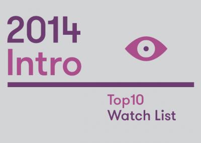 Intro: 2014 Top10 Watch List