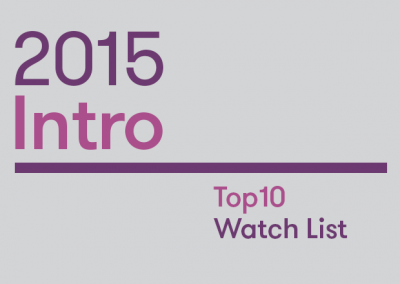 Intro: 2015 Top10 Watch List