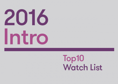 Intro: 2016 Top10 Watch List