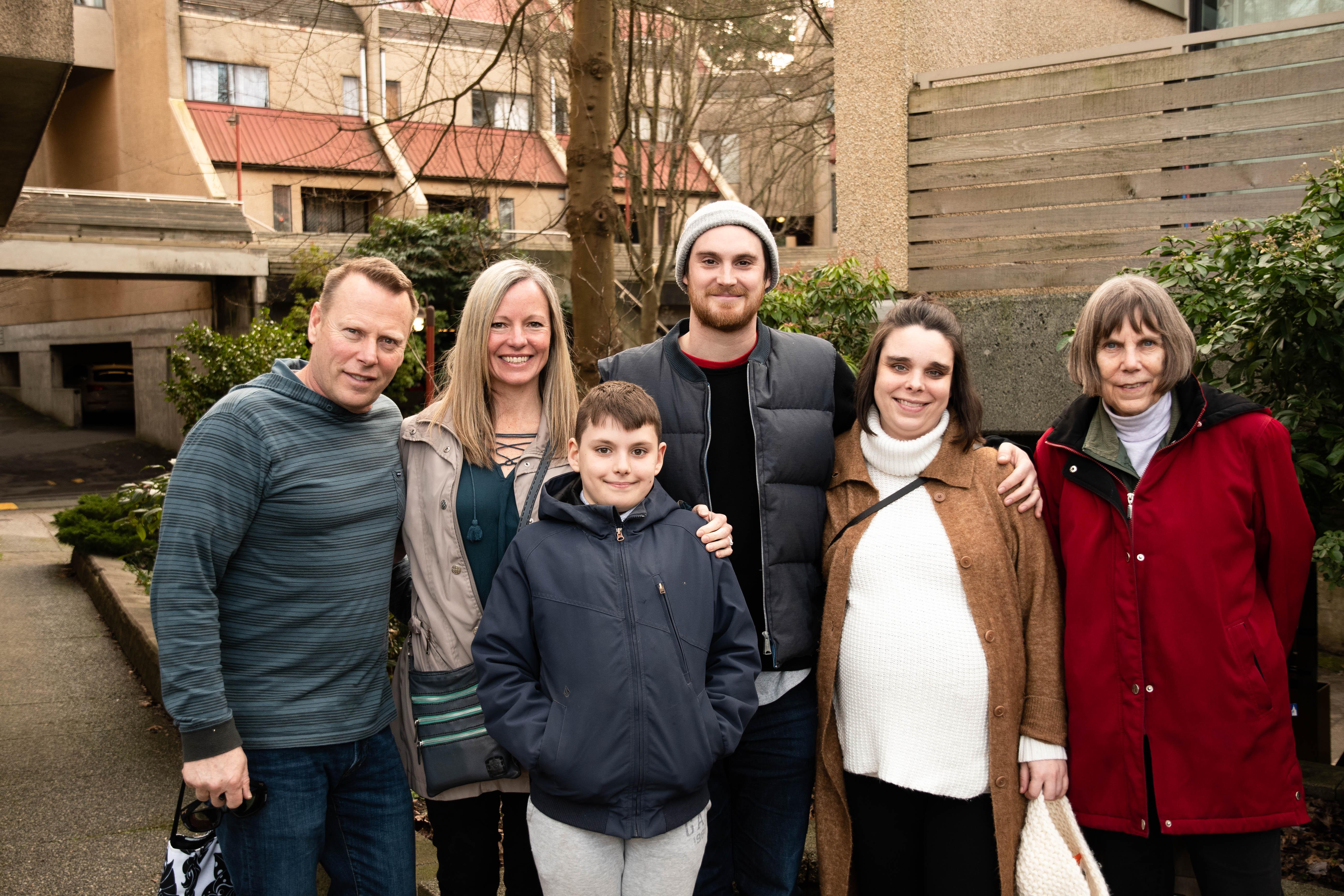 L to R: Mike, Christie, (their son) Jesse, Matt, Dani, Nancy
