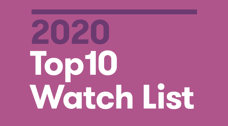 8. 2020 Top10 Watch List