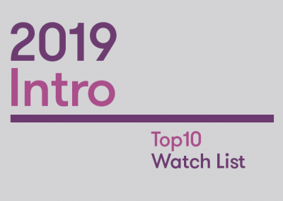 Introduction: 2019 Top10 Watch List